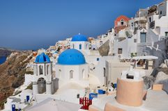 Oia - church - santorini (cyclades) Stock Photography