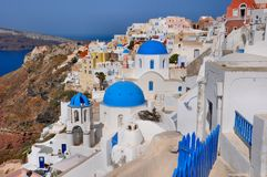 Oia - church - santorini (cyclades) Royalty Free Stock Photography