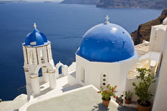 Oia Church, Santorini, Greece. Pretty Greek Church, Oia Town, Santorini, Cyclades, Greece Stock Photos