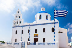 Oia Church Santorini Royalty Free Stock Images