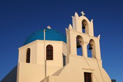 Oia church in Santorini island Greece Royalty Free Stock Image