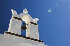 Oia church in Santorini island Greece Stock Image