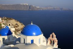 Oia, city in Greece island Santorini Royalty Free Stock Photos