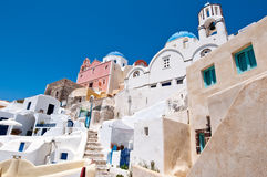 Oia cityscape on the island of Thera (Santorini), Greece. Royalty Free Stock Image