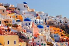 Oia cityscape, Santorini royalty-vrije stock foto