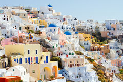 Oia cityscape, Santorini Royalty Free Stock Images