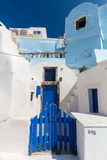 Oia. Colorful buildings in oia village, santorini Stock Photos