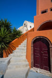 Oia. Colorful street in oia village, santorini Stock Image