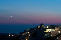 Oia después de la puesta del sol Imagenes de archivo