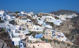 Oia-Dorf auf Santorini Insel Lizenzfreie Stockbilder