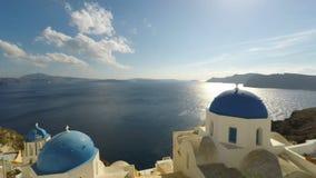Oia-Dorf auf Santorini Insel stock video footage