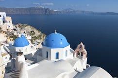 Oia-Dorf bei Santorini, Griechenland stockbilder