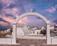 Oia-Dorf, Inseln Santorini Cyclade, Griechenland Lizenzfreie Stockfotografie