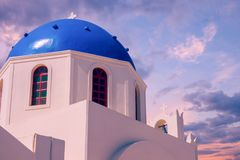 Oia-Dorf, Inseln Santorini Cyclade, Griechenland Lizenzfreie Stockbilder