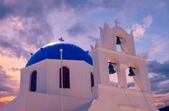 Oia-Dorf, Inseln Santorini Cyclade, Griechenland Stockbild
