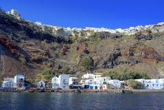 Oia-Dorf Santorini, Griechenland Stockbilder
