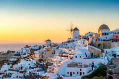 Oia at Dusk Stock Photo