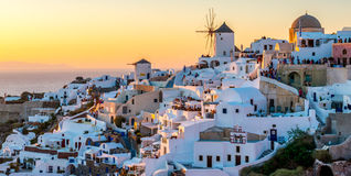 Oia at Dusk Stock Image