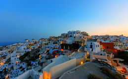 Oia in the early morning Royalty Free Stock Photo