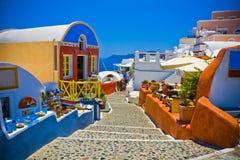 Oia em Santorini imagens de stock
