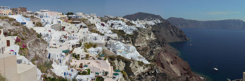 Oia en la isla de Santorini Fotografía de archivo