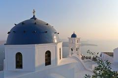 Oia en la isla de Santorini Fotos de archivo