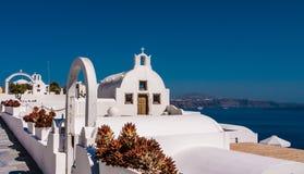 Oia en la isla de Santorini Grecia Fotos de archivo