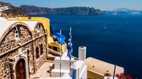 Oia en la isla de Santorini Grecia Imagen de archivo libre de regalías