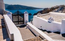Oia en la isla de Santorini Grecia Fotos de archivo libres de regalías