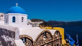 Oia en la isla de Santorini Grecia Imágenes de archivo libres de regalías
