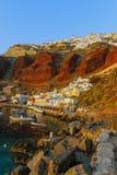 Oia et le port d'Ammoudi Photos stock