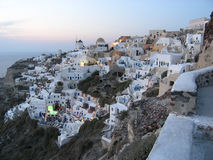 Oia evening. Santorini - Oia after sunset Royalty Free Stock Images