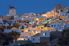 Part of Oia at night Royalty Free Stock Photography