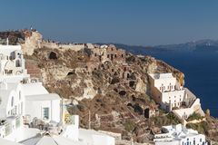 People wating for sunset in Oia Royalty Free Stock Photography