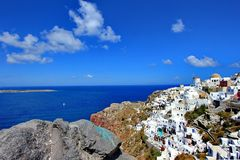 Oia, Greece, landscape Royalty Free Stock Photo