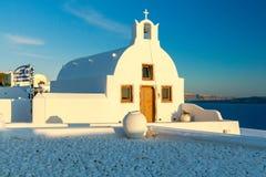 Oia. Greek church. Royalty Free Stock Photo