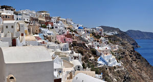 Oia at the greek island of Santorini Royalty Free Stock Photos