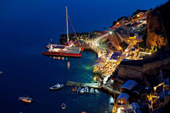 Oia harbour Royalty Free Stock Images