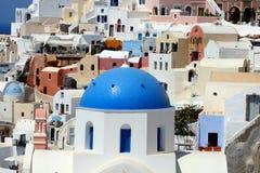 Oia. Het Eiland van Santorini, Griekenland Stock Foto's