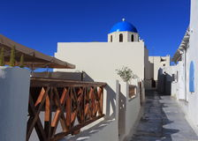 Oia (Ia) village on Santorini island, Greece Royalty Free Stock Images
