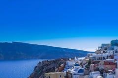 OIA, INSEL SANTORINI, GREECE-SEPTEMBER, 03,2014 Lizenzfreies Stockfoto