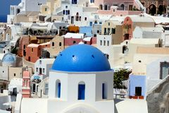 Oia. Isla de Santorini, Grecia fotos de archivo