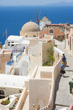 Oia on the island of Santorini, Greece. Royalty Free Stock Photo