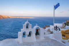 Oia Kirche auf Santorini Lizenzfreies Stockfoto