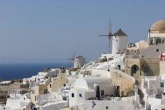 Oia-Kirche im santorini Griechenland stockfotografie