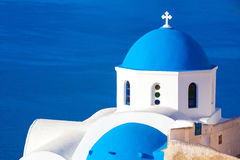 Oia kościół, Santorini wyspa, Cyclades, Grecja Obrazy Royalty Free