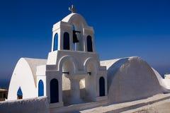 Oia kyrka Fotografering för Bildbyråer