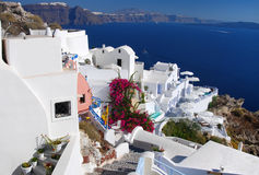 Oia landscape, Santorini in Greece Stock Photo