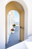 Oia luxury decks and patios Stock Photography