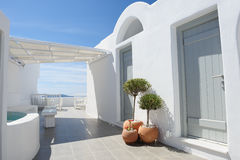 Oia luxury decks and patios Stock Images